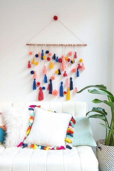 Rainbow Tassels & Pompoms